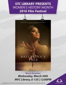 Women's History Month movie flyer