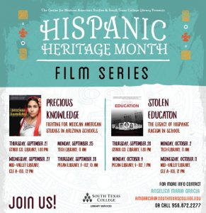Hispanic Heritage Month Film Series - Stolen Education @ South Texas College TECH Campus Library
