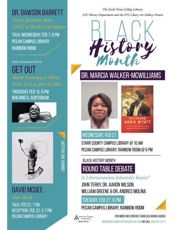 Flyer for Black History Month