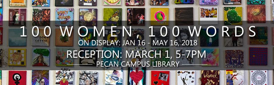 100 Women Reception: March 1, 5-7pm