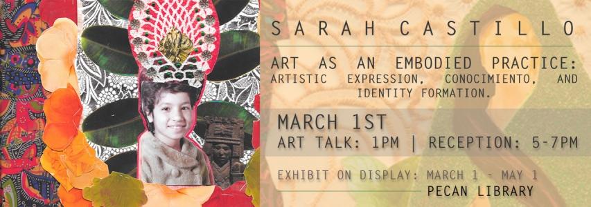 Sarah Castillo Art Talk: March 1 at 1pm