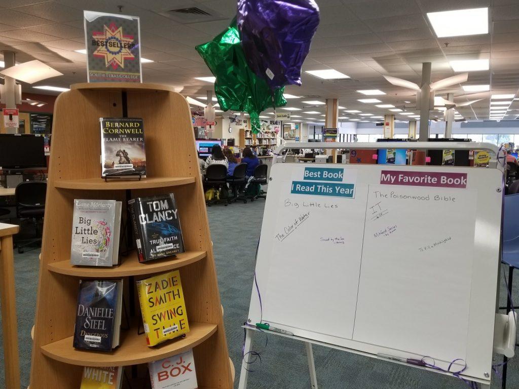 Bestseller book display