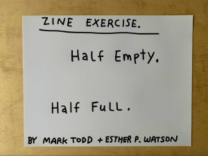 Zine exercise tutorial