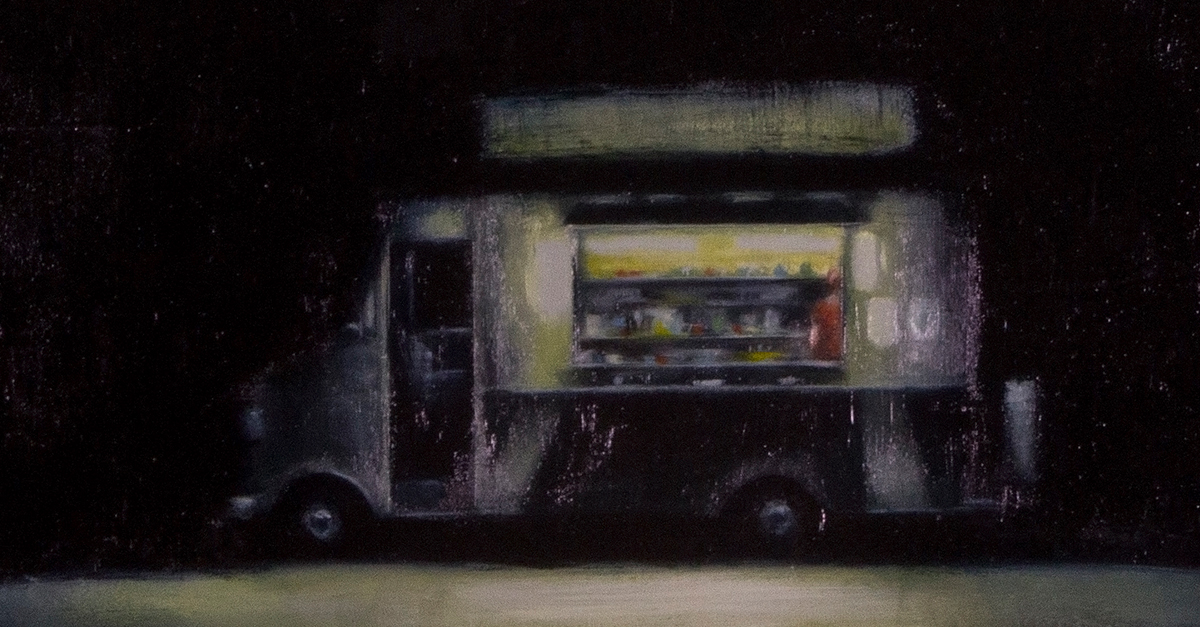 Food truck in the dark